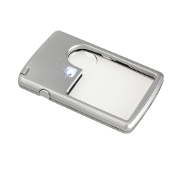 HKS Ultra Thin 3x 6x Magnifier LED Light Jewelry Loupe Credit Card Shape (Intl)
