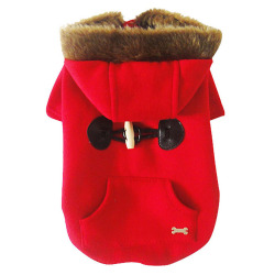 HKS Winter Dog Cat Pet Clothes Apparel Buttons Hoodie Sweater Coat(Red) (Intl)