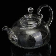 HL Heat Resistant Elegant Glass Teapot/ Infuser Flower/Green Leaf Teapot 750Ml - intlPHP676. PHP 693