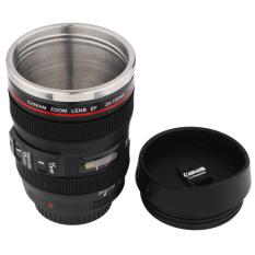 HL Mini 350Ml Lens Cup Tea Mug Similar To Caniam Zoom Lens Ef 24-105Mmblack
