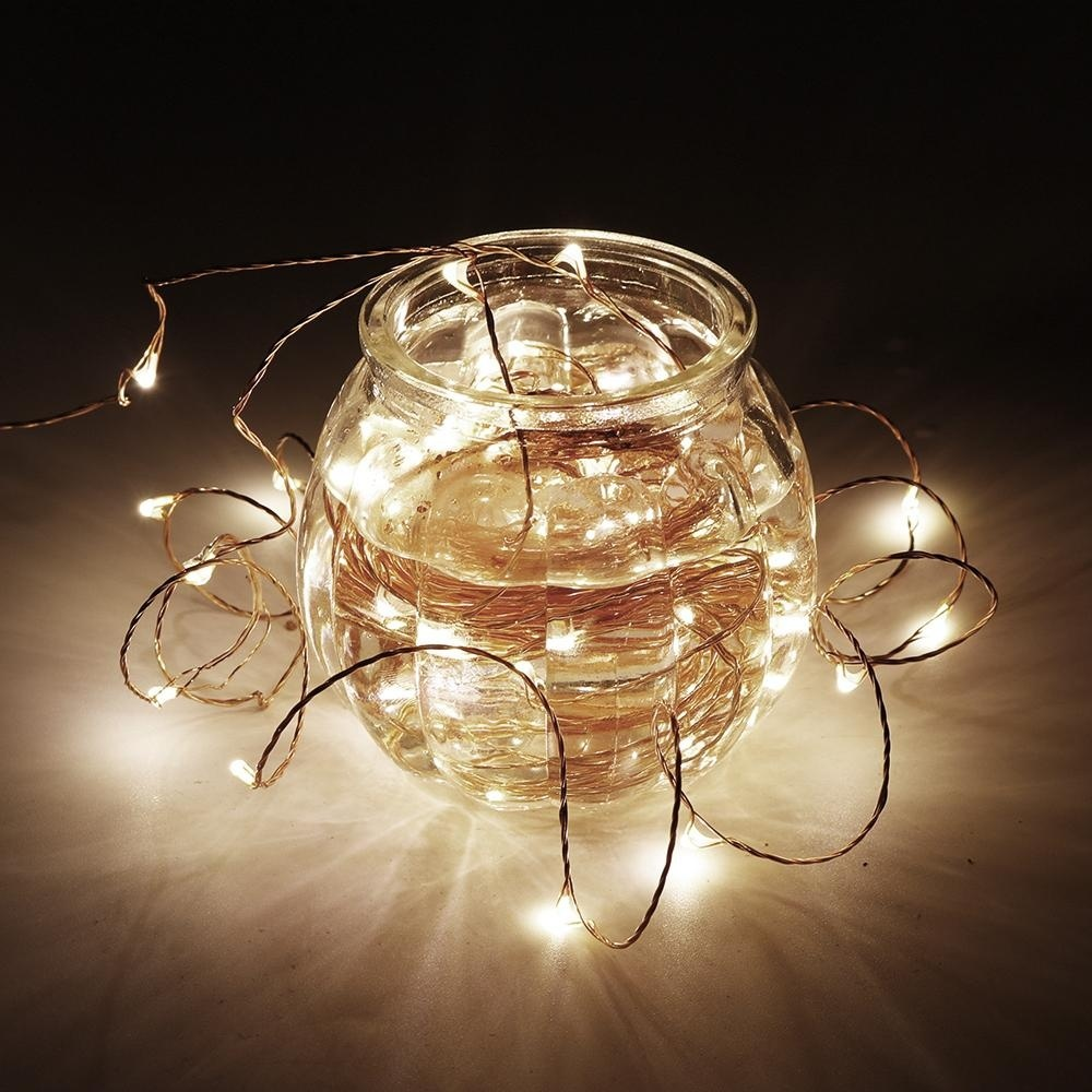 Holiday Lights Led Light String Copper 10M 100leds + 12V 1A Power Adapter  Fairy Garland Festival