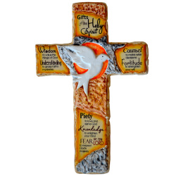 Holy Spirit Cross Ceramic Wall Decor