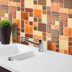 Jual Getek Waterproof Bedroom Bathroom Glass Window Door Film Source · Home Decor Brick Mosaic Kitchen Bathroom Foil Beauty 3D Wallpaper Sticker Tile intl