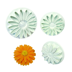 Homegarden Cake Plunger Sunflower Sugarcraft Cutter Mold 3pcs
