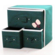 Hongkong 3 Drawer Foldable Woven Clothing Storage Box By Hongkong Online Boutique.