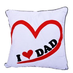 I Love Dad Pillow (White)