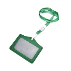 ID Name Card Holder Case Badge Lanyard Neck Strap Necklace Strap Green - intl