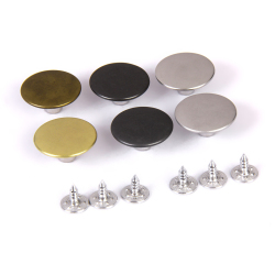 Jeans Glossy Buttons Hammer on 20mm 6 Piece Set (Multicolor)