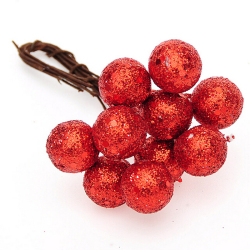 Jetting Buy Christmas Berries Hanger Xmas Tree Decor 10Pcs Red 1.5
