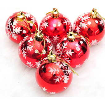 Jetting Buy Christmas Tree Decor Bauble Ball Hanging 6Pcs Red