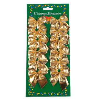 Jetting Buy Christmas Tree Decoration Bowknot 12Pcs Gold
