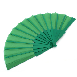Jetting Buy Hand Fabric Folding Fan (Green)
