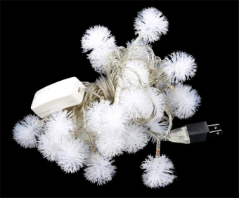 Jo.In 5M 28 LED Fuzzy Ball String Fairy Light Christmas Xmas Party Wedding 100-220V US Plug (Multicolor)