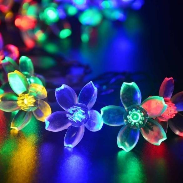 Jo.In 7M 50 LED Solar Flower String Light Waterproof Christmas Party Decor Light (Yellow) - thumbnail