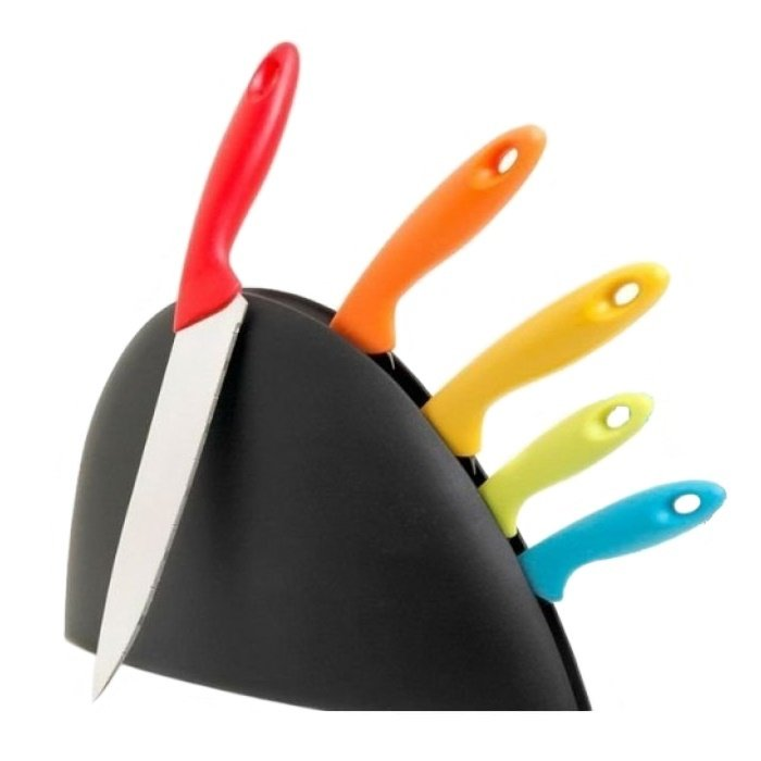 Keimav Color Splash Knife with Holder Set of 6 product preview, discount at cheapest price