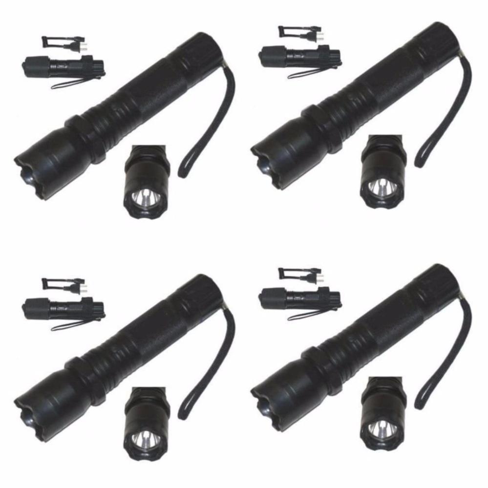 Keimav Rechargeable Police Flashlight Set of 4 (Black) - thumbnail