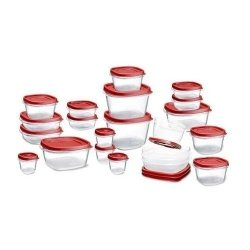 Keimav Rubbermaid Easy Find Lid Food Storage Set, Plastic, 42-Piece
