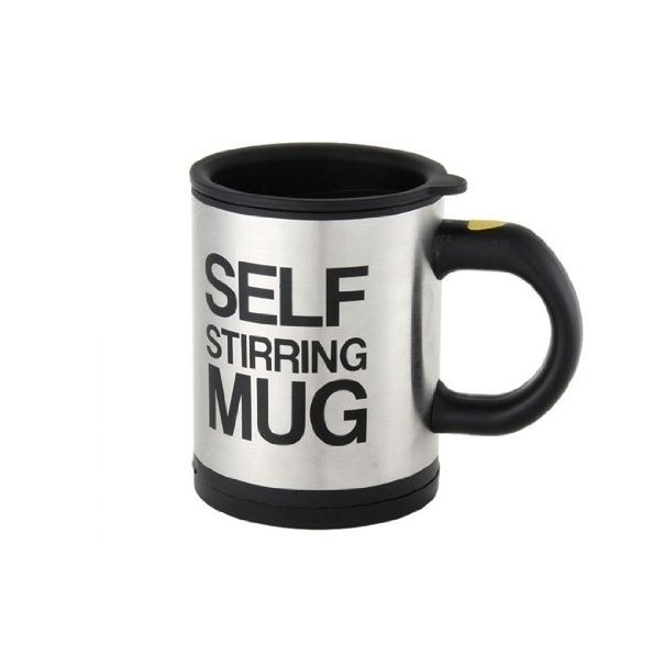 Keimav Self Stirring Coffee Mug (Black/Silver) product preview, discount at cheapest price