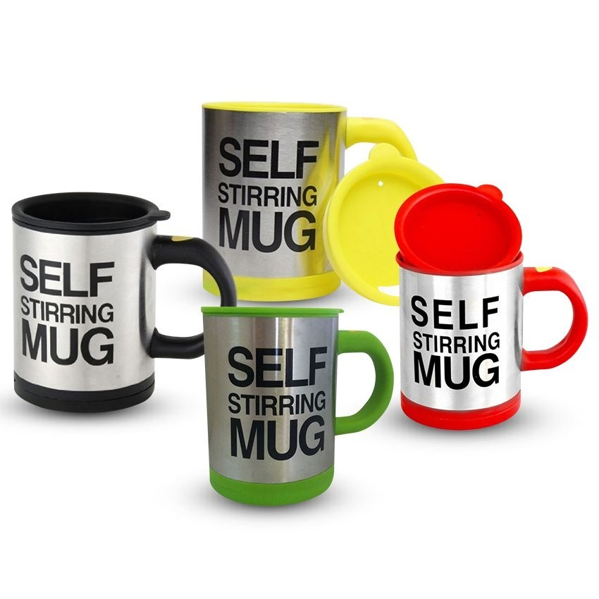 Keimav Self Stirring Coffee Mug Gift Set of 4 (Multicolor) product preview, discount at cheapest price
