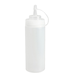 Kitchen Plastic Squeeze Bottle Dispenser 24oz for Sauce Vinegar Oil Ketchup