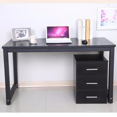 black office table. KRUZO Minimalist Home Office Desk Table (80cm X 50cm 74cm) 2ft 8in Black