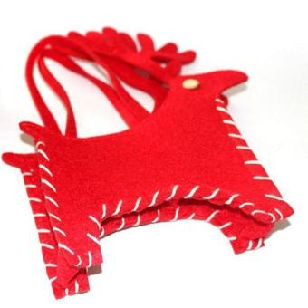 LALANG Chic Christmas Candy Bags Small Deer Shape (Red)