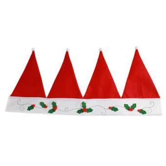 LALANG Christmas Hat Valance Door Window Curtain Bunting Banner Decor