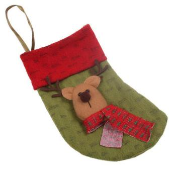 LALANG Christmas Stocking Hanger Ornament Socks Deer Green