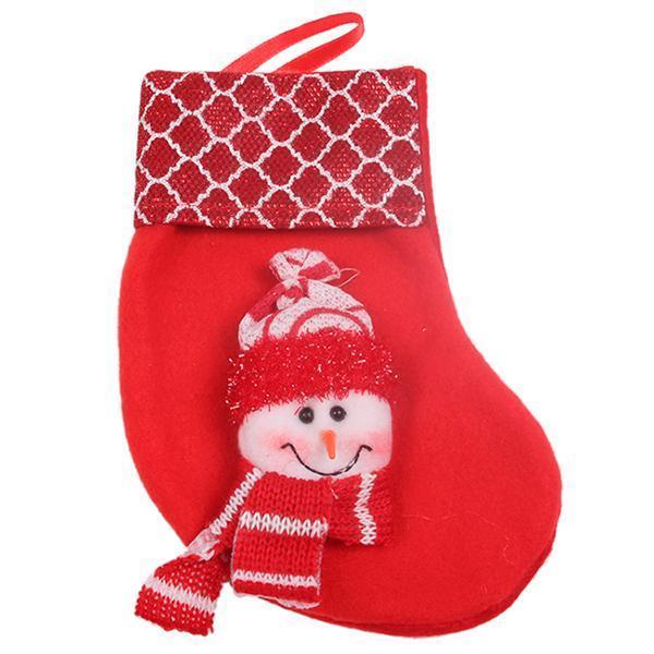 LALANG Christmas Stocking Hanger Ornament Socks Snowman Red - thumbnail ...
