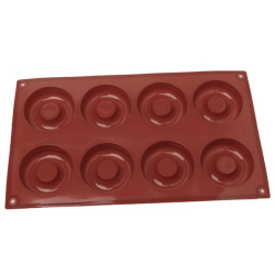 LALANG Donut Muffin Molds Silicone 8 Cavity (Coffee)