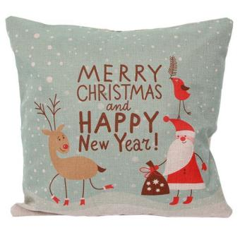 LALANG Throw Pillow Case Cover Christmas Pattern F Multicolor