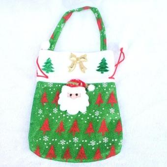 Lan Yu Christmas Drawstring Gift Bag Sweet Fabric Sack Pocket Xmas 24*20cm Christmas Santa A Creative - intl