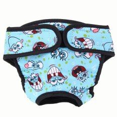 Large Dog Diaper Sanitary Physiological Pants Washable Female Dog Underwear (Blue) (XL) - intl Philippines