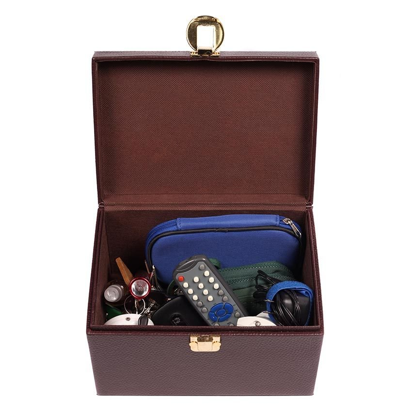 Le Organize Treasure Box Organizer (Brown) - thumbnail