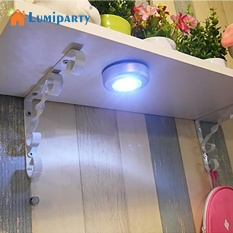LED Wireless Night Light, LumiParty Battery Powered Stick On Tap Touch Lamp,