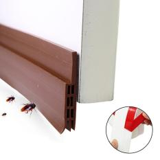 leegoal Self Adhesive Under Door Silicone Sweep Weather Stripping Weatherproof Doors Bottom Seal Strip Insulation Draft Stopper Noise Reduction Dustproof Weatherstrip - intl Philippines