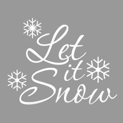 Let It Snow Christmas Wall Decal Snowflake Wall Decal Lettering Vinyl Windows Removeable Living Waterproof - Intl