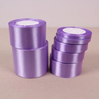 Light Purple 25 Yards Silk Satin Ribbon Wedding Party Decoration Gift Wrapping Christmas Year Apparel Sewing Fabric DIY 40mm - intl