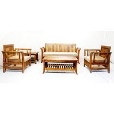 Beau Linden Teak Handcrafted Solid Teak Wood 092 Sofa Set Furniture (Gold Teak  Series Indoor Design ...