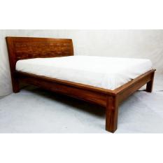Linden Teak Handcrafted Solid Teak Wood Empatra M Bed Frame King Size  Furniture (Gold Teak ...