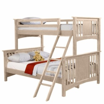 Longlife NV-1100W.ASH Double Deck Bunk Bed Frame Only 36 X 75 Upper & 54 x 75 Bottom Cost U Less