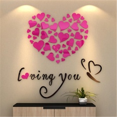 Love Heart DIY Removable Vinyl Decal Art Mural Wall Stickers Home Room Decor - intl