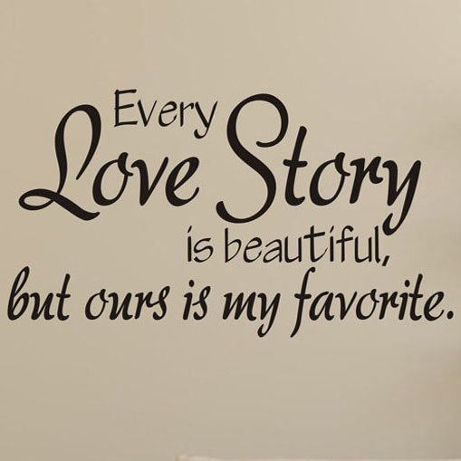 Love Story Poetry Art Background DIY Wall Stickers Decals (Black) product preview, discount at cheapest price