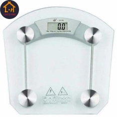 LOVEu0026HOME Digital Square LCD Electronic Tempered Glass Bathroom 8mm Weighing  Scale