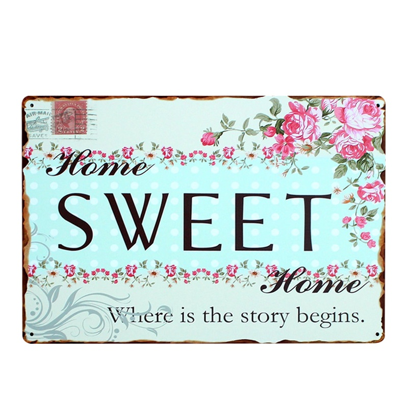 Designer Wall Art Home Decor Online Lazada Sg Source Iron Metal Poster Tin Sign Plate Decoration Vintage Painting Family Rule Plaque Intl
