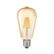 Mabor E27 ST64 8W LED Bulb Edison Retro COB Light Dimmable Gold Yellow - intl