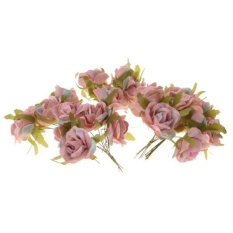 MagiDeal 30pcs Artificial Rose Buds Flower Bouquet DIY Craft Home Decor Dusty pink - intl