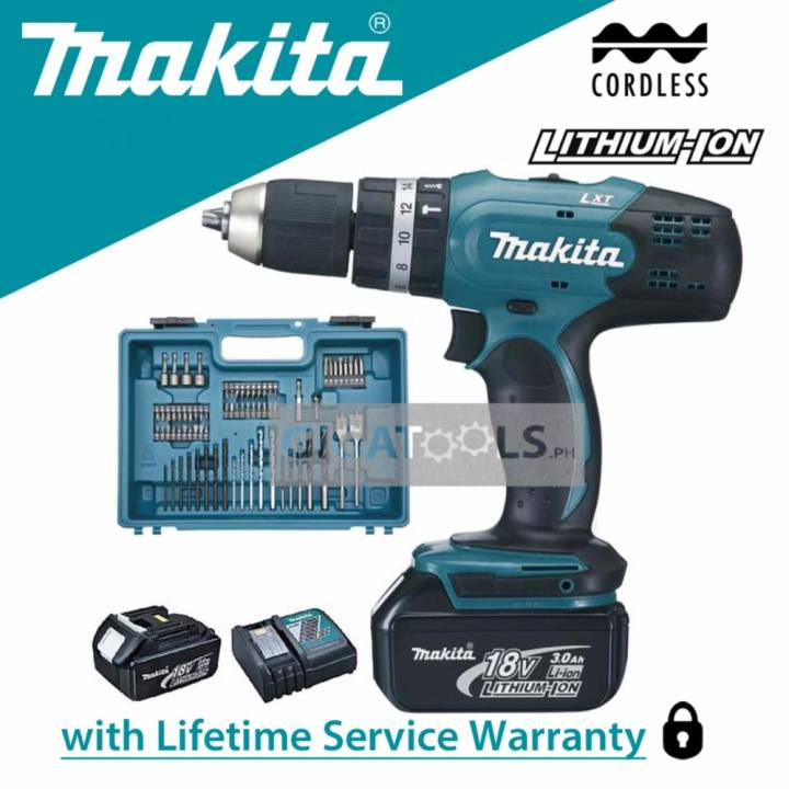 makita dhp453rfx4 cordless hammer drill 1 2 18v lxt kit set lazada ph. Black Bedroom Furniture Sets. Home Design Ideas