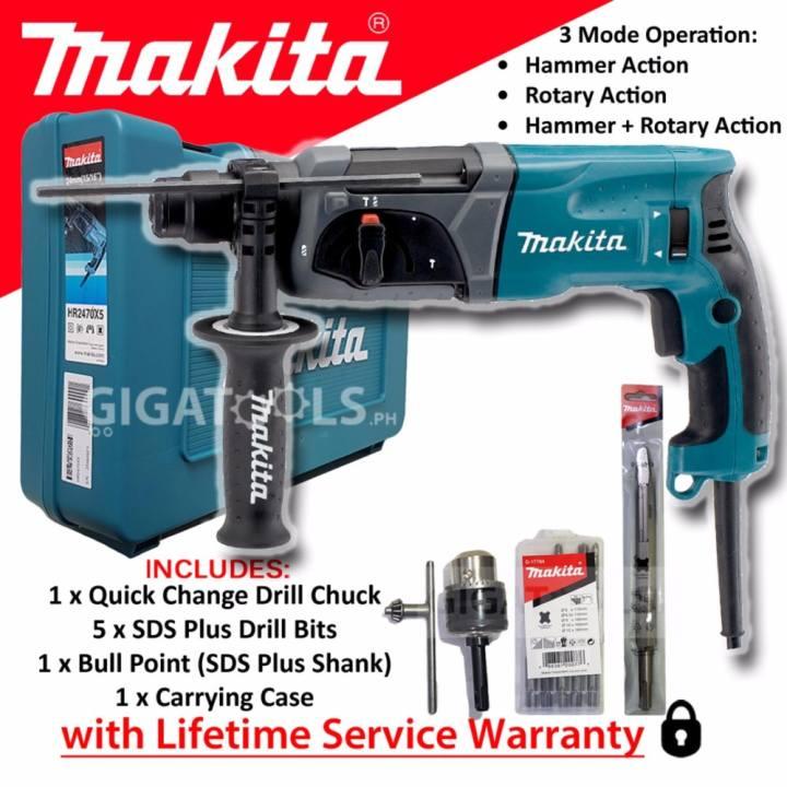"Makita HR2470X5 Rotary Hammer Drill 15/16"" 780W( ROTHAMRDL"
