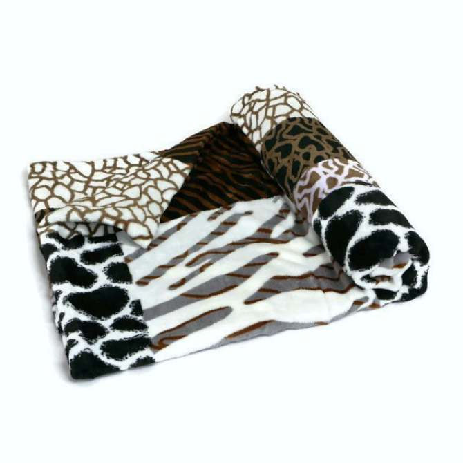 Manhattan Homemaker Ultra Soft Faux Mink Blanket Queen Size (Safari Adventure)
